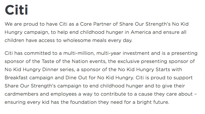 1 easy way to help Citi donate up to $2 Million & fight child hunger